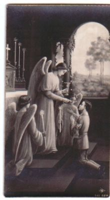Angel distributing Communion