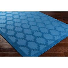 Artistic Weavers Metro Riley Electric Blue 7 ft. 9 in. x 7 ft. 9 in. Round Indoor Area Rug