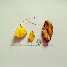 #leaf #yellowleaf #autumnleaf #autumn #sadness #sorrow #Ariana #girl #follow #instagood #photooftheday #cute #art #drawing #painting #creative #лист #желтыйлист #осеннийлист #осень #печаль #грусть #Ариана #девочка #арт #рисунок #иллюстрация #креатив #рисование #aler_draw