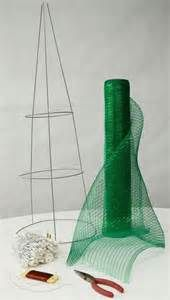 How To Make a Christmas Standing Tree With Deco Mesh - - Yahoo Image Search Results
