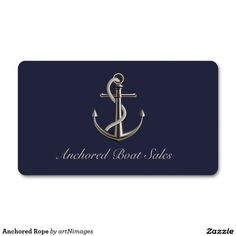Anchored Rope Double-Sided Standard Business Cards (Pack Of 100)