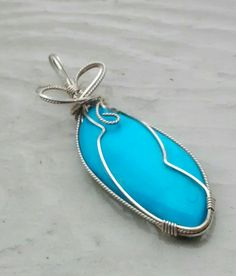 Check out this item in my Etsy shop https://www.etsy.com/listing/498954366/arizona-turquoise-pendant-sterling-wire