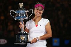 Na Li becomes oldest player to win the Australian Open women's singles Title, defeating Dominika Cibulkova 7-6(3) 6-0 at Rod Laver Arena on Saturday night for her 2nd SLAM Slam Title. It was a case of third time lucky for the 31-year-old #4-Seed, who lost the 2011 Melbourne Park FINALS to Kim Clijsters & again in 2013 to Victoria Azarenka. This is Na's maiden Aussie Open. 1/25/2014
