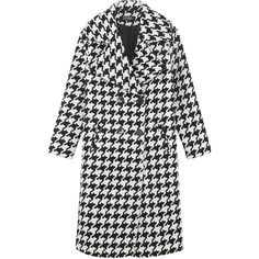Yoins Oversize Lapel Collar Duster Coat (3.835 RUB) ❤ liked on Polyvore featuring outerwear, coats, yoins, jackets, black, collar coat, single-breasted trench coats, houndstooth coat, longline coat and duster coat