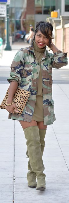 Camo, Army Green, Leopard, Mix Prints, OTK boots
