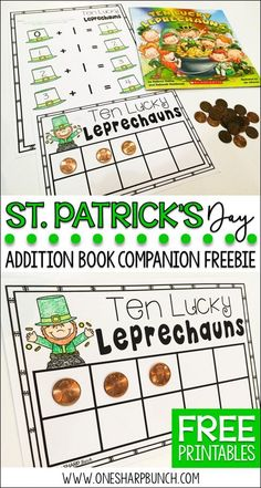 Patrick's Day activities for kids, including St. Patrick's Day books and a FREEBIE perfect for the story Ten Lucky Leprechauns! Holiday Activities, Kindergarten Activities, Classroom Activities, Preschool Activities, Classroom Ideas, Monster Classroom, Kindergarten Addition, Preschool Education, Spring Activities