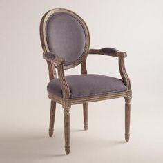 One of my favorite discoveries at WorldMarket.com: Plum Paige Round Back Armchair