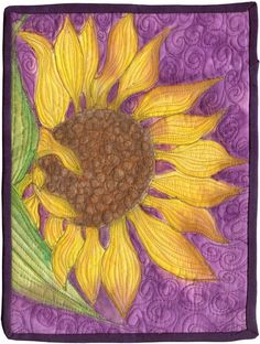 Sunflower quilt @ DIY Home Cuteness Very similar design I made in my sulky class!