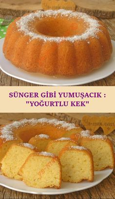 Sünger Gibi Yumuşacık : Yoğurtlu Kek A soft and very delicious cake recipe that you can easily make at home with its spongy inner structure … Delicious Cake Recipes, Yummy Cakes, Dessert Recipes, Cakes Plus, Light Snacks, Yogurt Cake, Sweet Desserts, Easy Snacks, Cheesecake Recipes