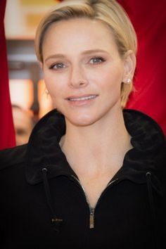 Princess Charlene met some of the 400 students who took part in the second 'Princess Charlene Rally' – a major sporting event in Monaco that celebrates the shared values of sports and education.