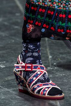 You Don't Want to Miss the Shoes on NYFW's Spring Runways  Anna Sui Spring '17