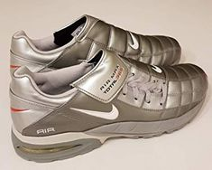 0801fcebaa9ab Nike 2003 Air Max Total 365 Football Trainers Chrome Grey Vintage New in  Box Men s UK