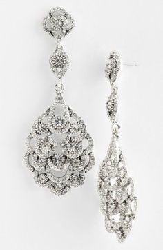 Women's Nina 'Eiffel' Statement Drop Earrings #bride #wedding #jewelry #bridaljewelryideas