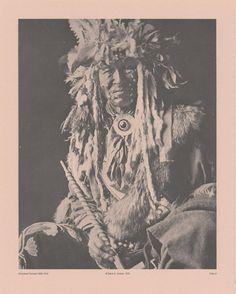 Vintage 1890-1910 Chippewa Portraits amérindien indien platine B