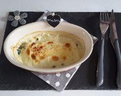 Epinards et pavés de saumon en gratin