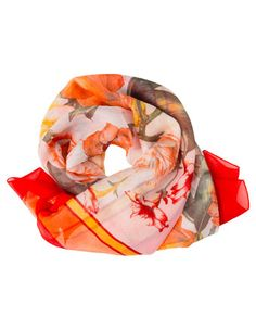 Trent Nathan square romantic flower print scarf. Made in Italy $25
