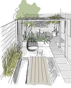 Klaas Hogeweg on Ins Garden Design Plans, Landscape Design Plans, House Landscape, Landscape Architecture, Back Gardens, Outdoor Gardens, Ibiza Stil, Design Jardin, Garden Planning