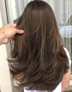 50 NEW Long Hairstyles with Layers for 2020 - Hair Adviser - 50 Lovely Layered Haircuts for Long Hair - Blonde Hair With Highlights, Balayage Hair Blonde, Color Highlights, Blonde Wig, Brown Blonde Hair, Black Hair, New Long Hairstyles, Straight Hairstyles, Layered Hairstyles