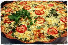 Suvikumpu: Tomaatti-sipulipiirakka Vegetable Pizza, Quiche, Vegetables, Breakfast, Food, Morning Coffee, Essen, Quiches, Vegetable Recipes