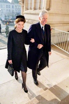 Princess Margaretha of Liechtenstein and Prince Nikolaus of Liechtenstein at the mass to commemorate the deceased members of the Belgian Royal Family, at the cathedral in Laeken, Brussels, Belgium, 12.02.2015