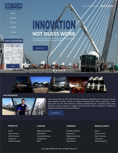 Beton Pumping Group need a edgy corporate web design! by NeuroDrain