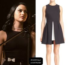 """Veronica Lodge wear this Alice + Olivia """"Bria"""" dress on Riverdale Veronica Lodge Outfits, Veronica Lodge Fashion, Tv Show Outfits, Girl Outfits, Veronica Lodge Riverdale, Riverdale Fashion, Betty And Veronica, Looks Plus Size, Fit Flare Dress"""