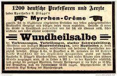 Original-Werbung/ Anzeige 1894 - APOTHEKER FLÜGGE'S MYRRHEN - CRÊME / WUNDHEILSALBE - ca 90 X 60 mm