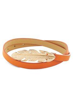 Take It or Leaf It Belt in Orange, #ModCloth