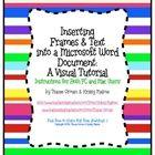 Teacher Tools, Teacher Resources, Microsoft Word Document, Classroom Freebies, Teaching Technology, Thing 1, Classroom Organization, Just In Case, Clip Art