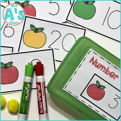These adorable math activities are great for busy boxes, quiet time bins, centers, table activities, or morning tubs in any preschool or kindergarten class! They are all apple themed, and they are ready to print & easy to use! #preschool #kindergarten #mathideas #busyboxes #quiettimebins #applestheme Kindergarten Themes, Preschool Themes, Preschool Math, Apple Activities, Math Activities, Counting For Kids, Manipulation, Apple Unit, Busy Boxes