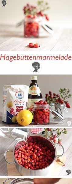 DIY: Hagebuttenmarmelade selber einkochen. Die kleinen roten Wunder sind super Vitamin-C-Spender und helfen euch gut durch die Erkältungszeit. #hagebutte #hagebuttenmarmelade #rezept #anleitung #diy #creadiensta