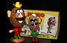Mr. Potato Head — then just a set of pointy-backed features that kids would jab into a real potato — made its debut in 1952. It became the first toy with a dedicated TV commercial and helped Hasbro earn more than $4 million in just a few months.