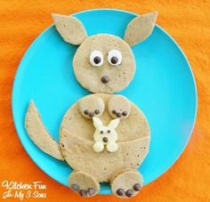 Kangaroo Pancakes for Breakfast