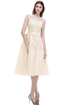 Cheap short prom, Buy Quality short prom dresses directly from China prom dresses lace Suppliers: In Stock prom dresses 2018 Sleeveless Short prom dress Lace Applique Beading Gown Party evening dress vestido de festa Curto Homecoming Dresses Knee Length, Prom Dresses 2018, Dresses Short, Gala Dresses, Knee Length Dresses, Evening Dresses, Bridesmaid Dresses, Teen Dresses, Sleeveless Dresses