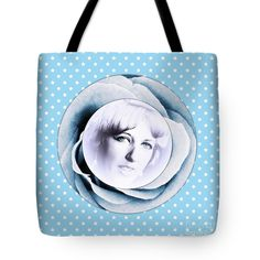 Face Of A Rose 2 Tote Bag by Joan-Violet Stretch.  The tote bag is machine washable, available in three different sizes, and includes a black strap for easy carrying on your shoulder.  All totes are available for worldwide shipping and include a money-back guarantee.