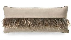 love the ostrich feather stripe on this pillow - chic!