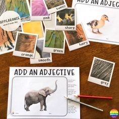 Add An Adjective Informational Text Writing Centre – you clever monkey Writing Words, Fiction Writing, Writing Corner, Sound Words, Cvc Words, Spelling Activities, Class Activities, Informational Writing, Learning To Write