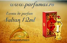Esenta de Parfum Al Haramain Sultan 12ml Pret: 70 RON www.parfumas.ro Parfum ce imbina perfect pasiunea, dragostea si misterul feminin. In notele acestui parfum regasim: trandafirul, iasomia, ylang ylang-ul, vanilie, ambra, lemnul de santal, moscul, paciuli, lavanda.