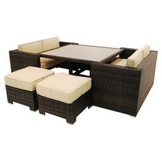 bring a touch of modern elegance to your garden parties with this clever cube sofa set