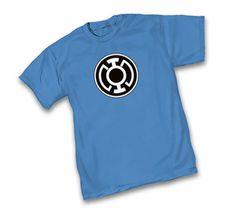 Green Lantern Blue Lantern Corps Symbol Light Blue Adult T-Shirt