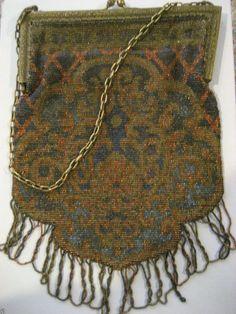 art nouveau beaded bag purse - Google Search