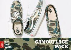 #Vans camouflage Pack #sneakers
