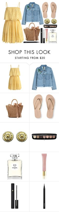 """""""Embroidered Chiffon Dress"""" by princess13inred ❤ liked on Polyvore featuring Chicwish, H&M, Aéropostale, Valentino, Marc Jacobs, Chanel, AERIN, Lancôme and MAC Cosmetics"""