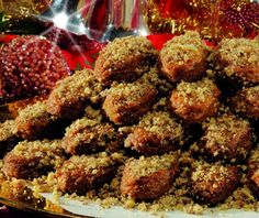 Christmas & New Year's Eve in Cyprus Greek Sweets, Greek Desserts, Greek Recipes, Greek Cookies, Xmas Cookies, Food Categories, Peanut Butter Cookies, Christmas Treats, Cookie Recipes