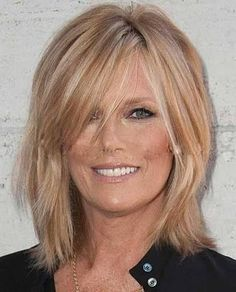 Image result for long hairstyles for older women