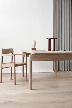 Considered one of the leading Danish furniture designers of her generation, all projects have a strong, functional reason for revolving around simplicity. Chair Design, Furniture Design, London Design Festival, Danish Furniture, Minimalist Decor, Wood Veneer, Scandinavian Design, Solid Wood, Woodworking