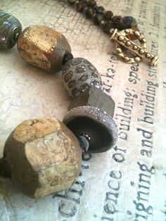 UNEARTHED Chunky Necklace / Urban Primitive by MangledMuttStudios, $135.00