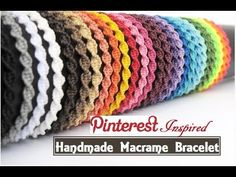 Learn To Make Macrame Bracelets - Diy - Diy All Things - Diy Crafts Bracelets Diy, Macrame Bracelet Diy, Thread Bracelets, Bracelet Crafts, Macrame Knots, Micro Macrame, Macrame Jewelry, Handmade Bracelets, Jewelry Crafts