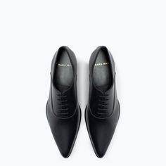 Image 3 of LEATHER OXFORD SHOE WITH POINTED TOE from Zara