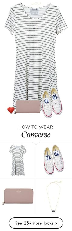 """Be good to people for no reason"" by sweet-n-southern on Polyvore featuring United by Blue, Converse, Kate Spade and Kendra Scott"